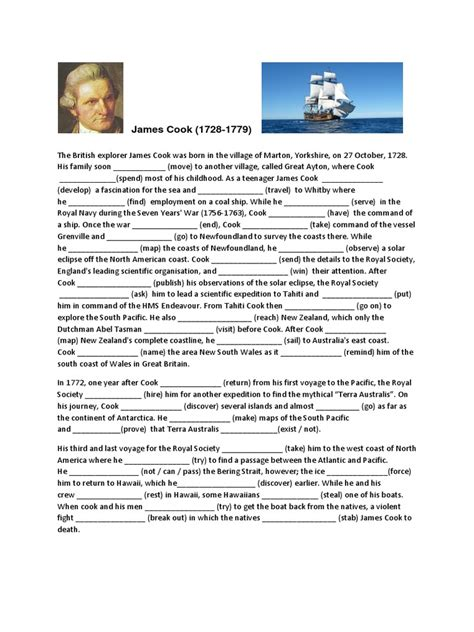 biography in context sign in mixed tenses in context exercise pacific ocean james cook