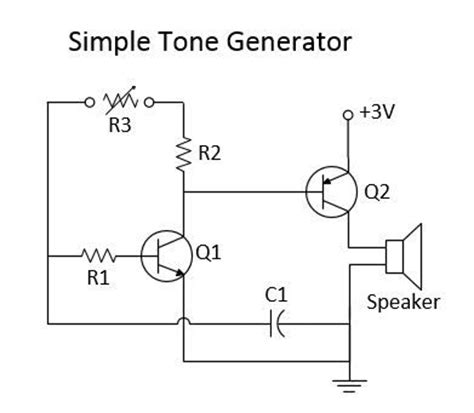 simple tone generator circuit diagram electronics