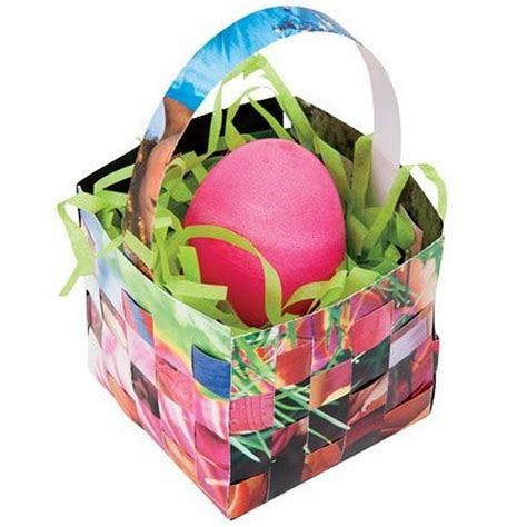 Make An Easter Basket From Paper - how to make woven paper easter baskets craft projects