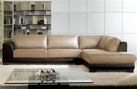 Two Tone Leather Sofa Inspiring Sectional Sofa 8 Two Tone Leather Sectional Sofa Smalltowndjs