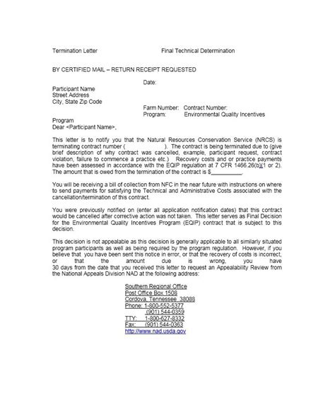 Cancellation Project Letter 35 Termination Letter Sles Lease Employee Contract
