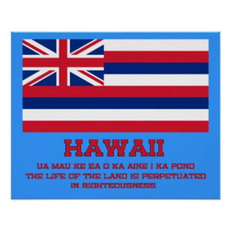 hawaii state flag posters | zazzle
