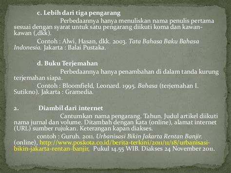cara membuat catatan kaki di karya tulis daftar isi karya ilmiah b indonesia contoh daftar isi