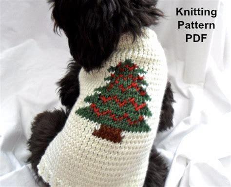 knitting pattern dog jersey christmas dog sweater knitting pattern pdf for small dogs