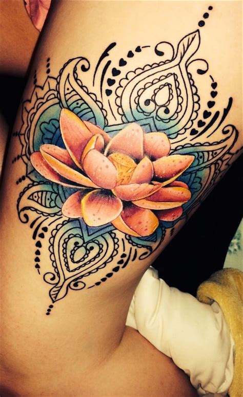 lotus flower thigh tattoo 88 best flower tattoos on the amazingly beautiful