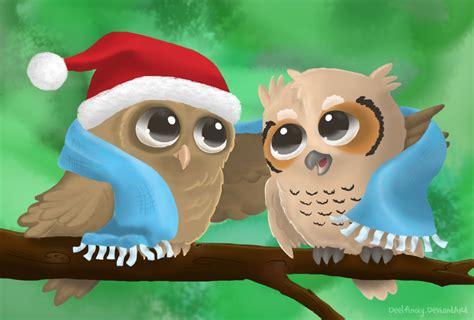 christmas owl pictures owl wallpaper wallpapersafari