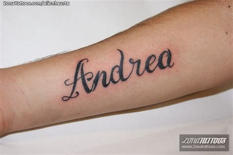 imagenes que digan andres tatuaje de nombres letras andrea
