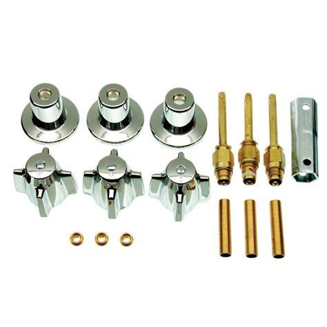 bathtub shower faucet repair danco central brass 3 handle tub and shower faucet trim