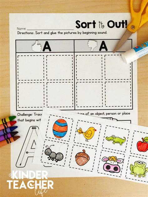 kindergarten activities phonemic awareness free phonemic awareness sorting worksheets a