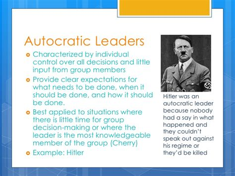 exle of leadership authoritarian leadership exles in nursing used cars
