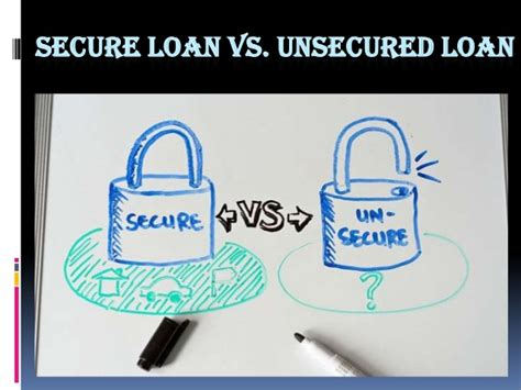 secured loan with house as collateral secured loan vs unsecured loan