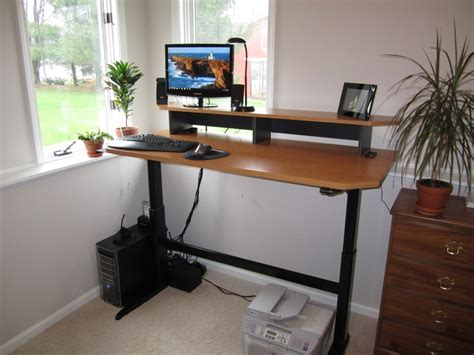 wood standing desk adjustable adjustable standing desks decofurnish