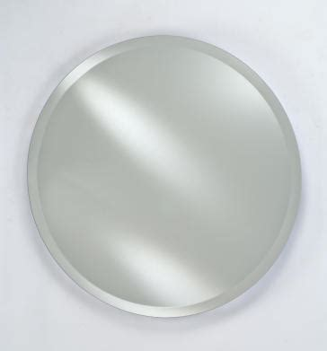 bathroom mirrors radiance scallop top frameless with or afina rm 424 radiance round frameless wall mirror