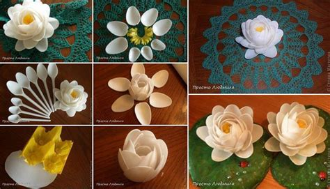plastic spoon roses diy recycled how to make beautiful decoration flowers with recycled plastic spoons step by step diy tutorial