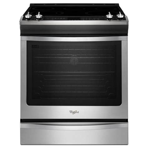 whirlpool 6 2 cu ft slide in electric range with self
