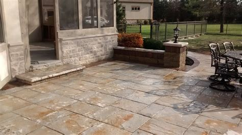 Unilock Yorkstone Paver Patio Installation Columbus Patio Ideas Columbus