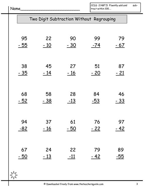 Free Subtraction Worksheets by Free Math Printouts From The S Guide