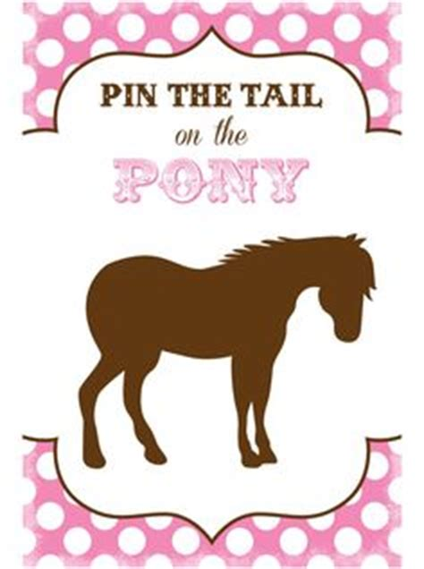 printable version of pin the tail on the donkey pin the tail on the pony printable party game pin the