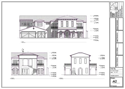 house plans elevation section section elevation plan modern house