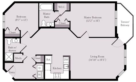 bathroom floor plans with closets floor plans styron square apartments