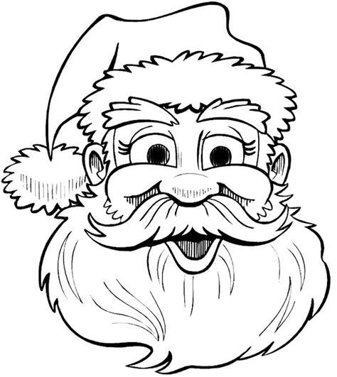 beautiful santa beard coloring page artsybarksy