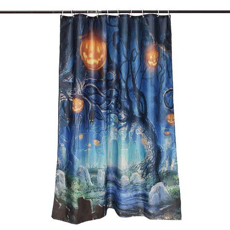 halloween shower curtain hooks 150x180cm halloween ghost pumpkin polyester shower curtain