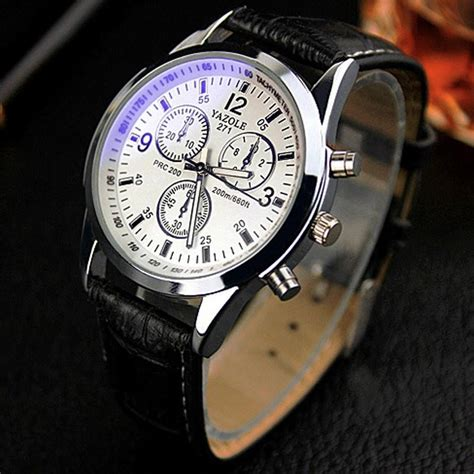 Jam Tangan Wrist Analog Quartz Stainless Steel Luxury S G s date leather stainless steel sport quartz wrist waterproof buyincoins