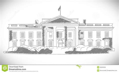 who designed the white house the white house hand drawn design stock illustration