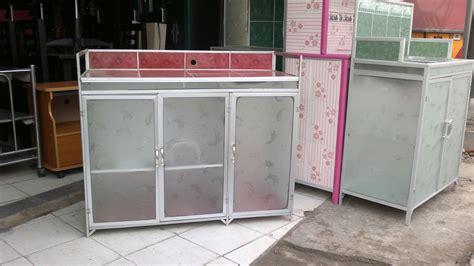 Meja Plat Aluminium jual meja dapur meja kompor 3 pintu rak piring dapur