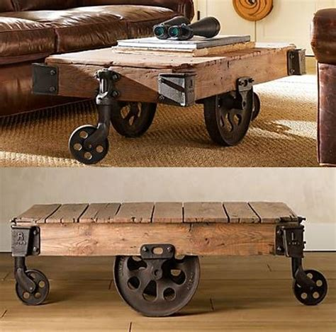 Restoration Hardware Cart Coffee Table Reclaimed Factory Cart Table From Restoration Hardware Factories Coffee Tables And Tables