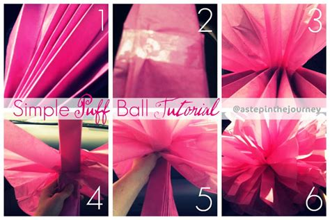 How To Make Paper Pom Pom Balls - tissue paper pom poms