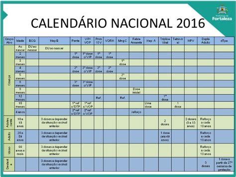 Calendario Vacinal Apresenta 231 227 O Calend 225 Vacinal 2016