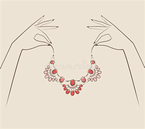 fashion jewelry images illustrations vectors fashion beautiful woman hand holding jewelry vector illustration