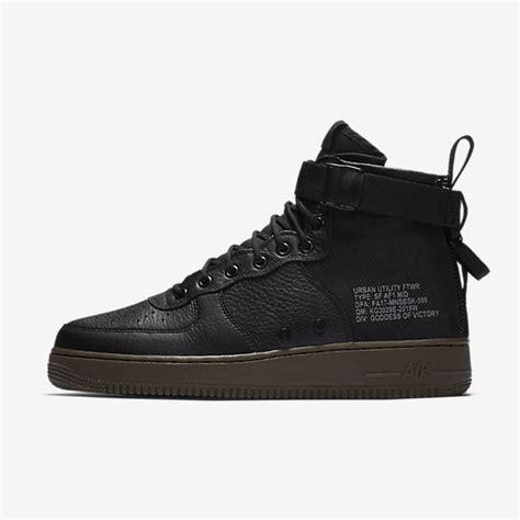 Sepatu Nike As Sf Air 1 Mid Black Hazel Hitam nike sf air 1 mid s shoe nike