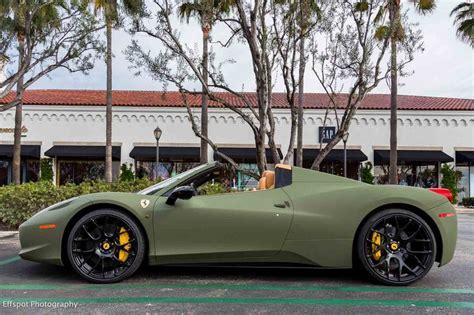 matte green ferrari matte green ferrari 458 italia by platinum motorsports