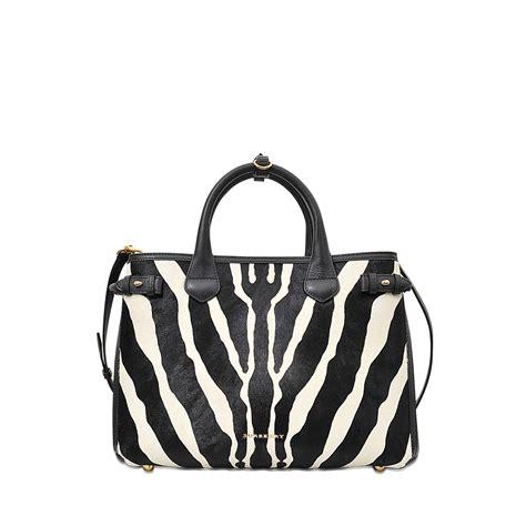 Zebra Bag lyst burberry md banner zebra printed bag in black