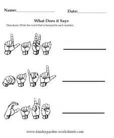 kindergarten worksheets worksheets sign language