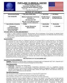 va hospital federal resume