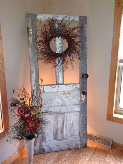 25 crafty old door vintage decorations to boost the charm antique wooden door decorating ideas