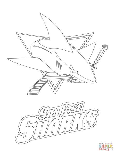 sharks hockey coloring pages san jose sharks logo coloring page free printable