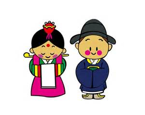 Korea cartoon bride and groom vector graphics my free photoshop