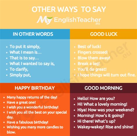 what to say to your on day other ways to say quot luck quot