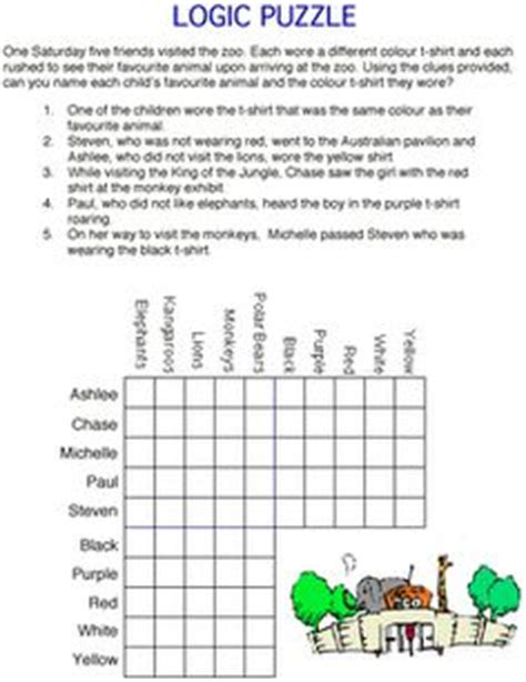 printable logic puzzles middle school 1000 images about logic puzzles on pinterest logic