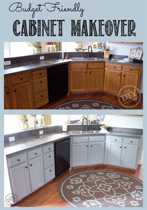 makeover kitchen cabinets budget friendly cabinet makeover the diy village