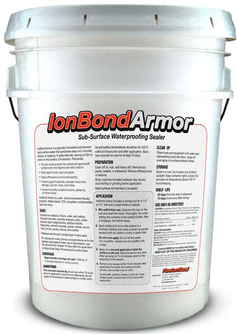 ionbond armor subsurface elastomeric concrete sealer forms a pin by richardson on home improvements