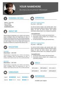 free modern resume templates word 100 free resume templates psd word utemplates