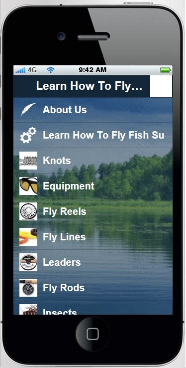 learn to fly mobile quot learn how to fly fish quot mobile app
