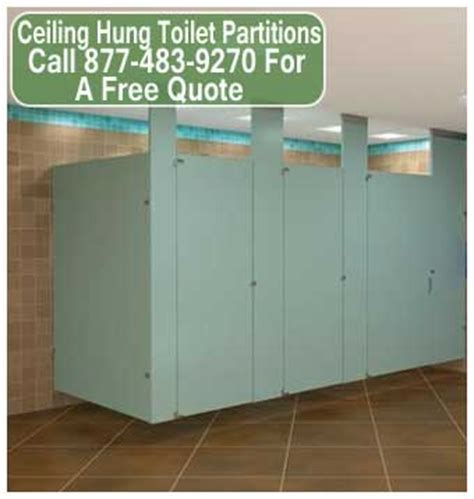 ceiling hung toilet partitions allow easy cleaning