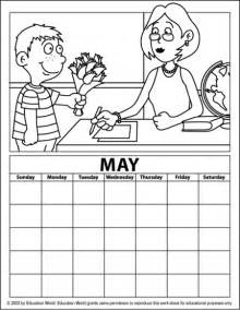 may coloring pages free may 2015 calendar coloring pages
