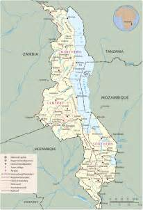 Malawi Africa Map by Map Of Malawi Lilongwe Travel Africa